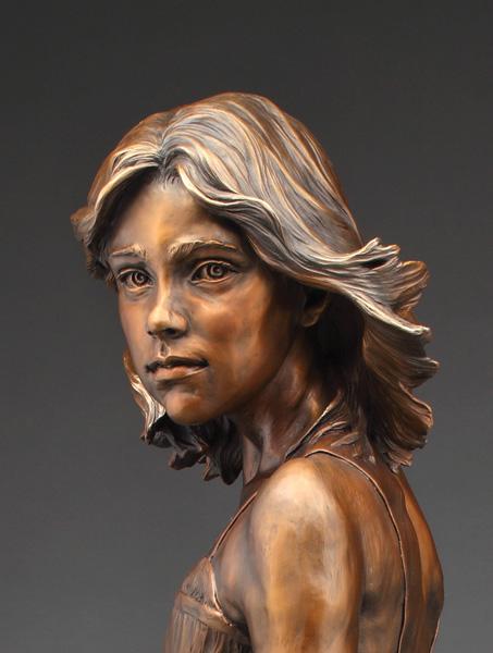 Angela Mia De la Vega, Pivotal Moment, bronze, 55 x 25 x 22.