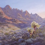 Ann Self, Golden Cholla, oil, 14 x 18.