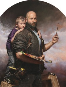 Bryce Billings, A Father's Dream and A Son's Love, oil, 48 x 36.