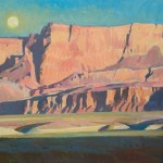 Ray Roberts, Echo Cliffs Moonrise, oil, 20 x 30.