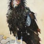 Britt Freda, California Condor, acrylic/graphite, 16 x 12.