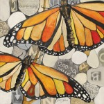 Britt Freda, Monarch Butterflies, acrylic/graphite, 12 x 12.