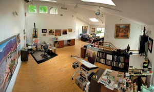 Gary Ernest Smith's studio in Highland, UT.