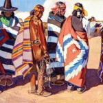 John Moyers, High Mesa Horse Traders, oil, 30 x 60.