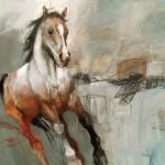 Karen Roehl, Untitled 144502, acrylic, 36 x 36.