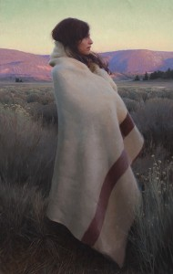 Silence and Sagebrush (detail) by Jeremy Lipking, winner of the Prix de West Purchase Award.