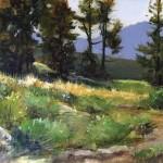 Peggy Immel, Morning Rays, oil, 11 x 14.