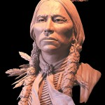 Ed Natiya, Quanah, bronze, 21 x 19 x 15.