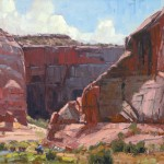 Jim Wodark, Red Bluff Trail, oil, 16 x 20.