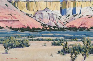 William Hook, Sage Scouts, oil, 24 x 36.