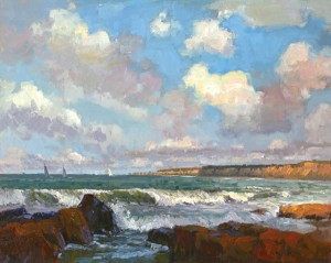 Jim Wodark, Sailing Day, oil, 24 x 30.