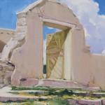 William Hook, Santuario Door, oil, 16 x 12.