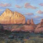 Cynthia Underwood, Sedona Glow, pastel, 14 x 24.
