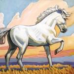 William Ersland, Cloud, acrylic, 16 x 20.