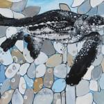 Britt Freda, Leatherback Sea Turtle, acrylic, 12 x 16.