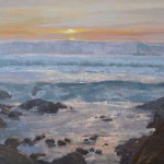 Michelle Jung, Asilomar Sunset, oil, 24 x 30.