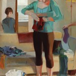 Kari Dunham, From the Beginning, oil, 45 x 30.