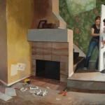 Kari Dunham, Home is Not, oil, 53 x 76.
