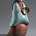 Doug Hyde, Seven Sisters, bronze, 23 x 12 x 8.