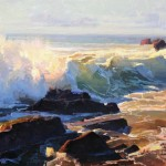 Calvin Liang, Incoming Tide, Cambria, oil, 12 x 16.
