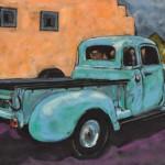 Karen Spotts, Ed's Ride, pastel, 16 x 22.