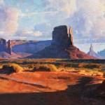 Calvin Liang, Long Shadow, oil, 15 x 30.