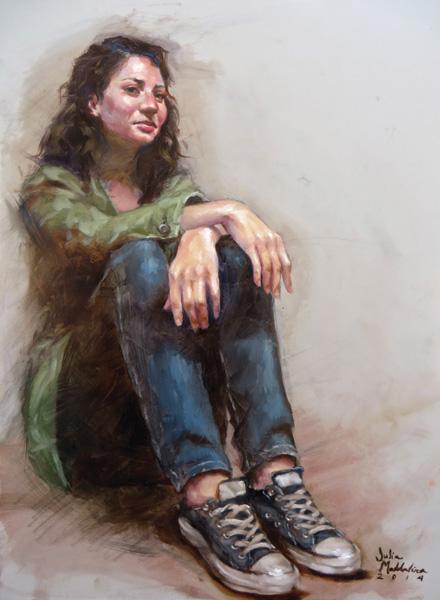 Julia Maddalina, Zackie, oil, 12 x 9.