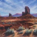 Marjie Eakin-Petty, Spring Sage, pastel, 16 x 20.