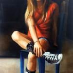 Terra Novak, Young Identity, oil, 46 x 32.