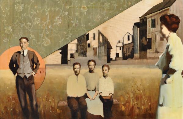 Amanda Raynes, St. Croghan, oil/resin, 36 x 48.