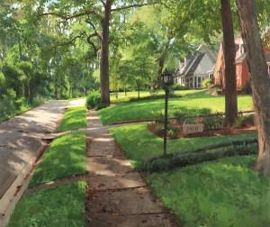 Street in Late August by Daniel Robbins.