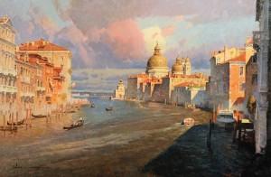 Calvin Liang, Venice, oil, 24 x 36.
