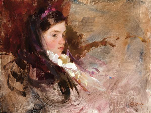 Nancy Guzik, White Ruffles, oil, 12 x 16.