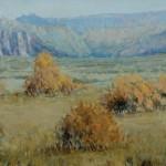 James Biggers, Autumn, North Zion oil, 20 x 40.