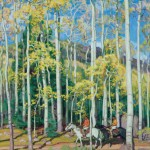 Towering Aspen, Rio Hondo Canyon, New Mexico by E. Martin Hennings, part of a major gift to the Eiteljorg Museum.