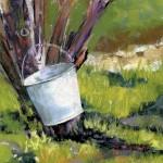 Jeannette Stutzman, Rainwater, pastel, 6 x 6.