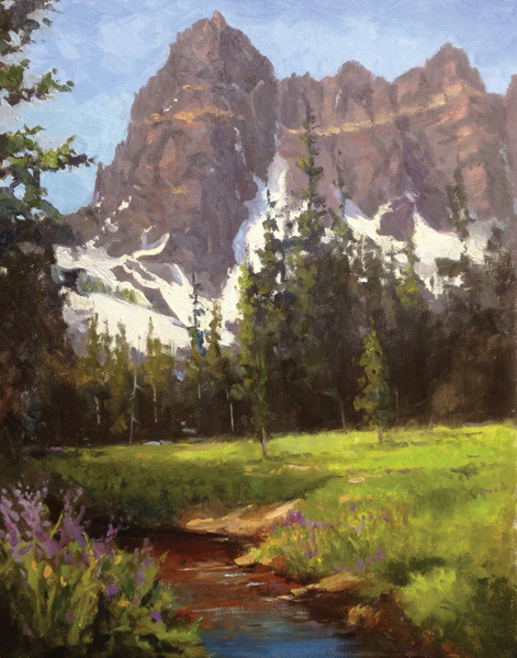 Randall Tillery, Canyon Creek Meadow, oil, 20 x 16.