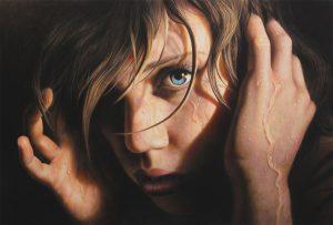 Jesse Lane, Echoes, colored pencil, 20 x 30.