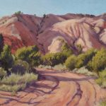 Lee McVey, Abiquiu Road, oil, 9 x 12.