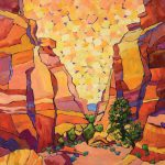 Paula Swain, Capitol Reef Trail (Capitol Reef National Park), oil, 30 x 30.