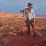 Glenn Dean, Rabbit Hunter, oil, 30 x 30.