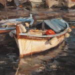 Derek Penix, French Fishing Boat, oil painting