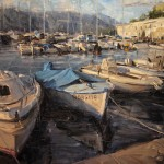 Derek Penix, French Harbor, oil painting