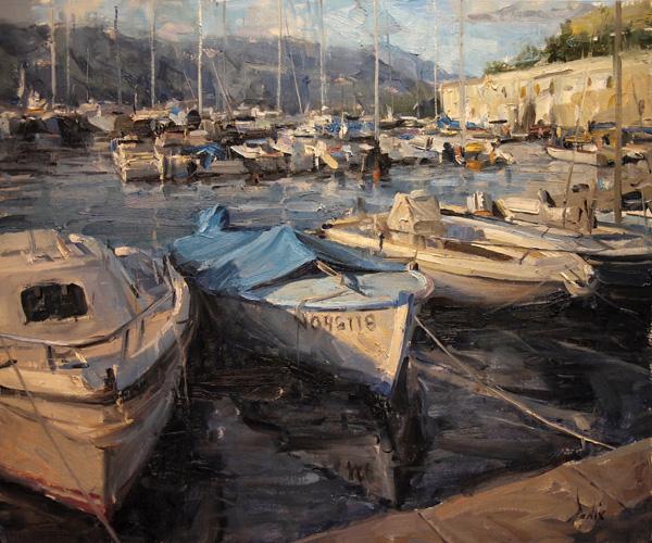 Derek Penix, French Harbor, oil painting