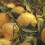 Derek Penix, Market Lemons, oil painting