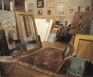 Derek Penix, Quang Ho's Studio, oil painting