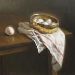 Michael DeVore, Bowl of Eggs, oil, 16 x 16.