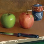 Kate Sammons, Apples, oil, 8 x 10.