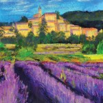 Giuliana Aubert, Oh the Lavender!, pastel, 14 x 11.