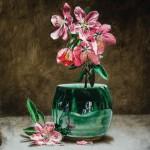 Jeremiah J. White, Spring Blossoms, oil, 12 x 9.